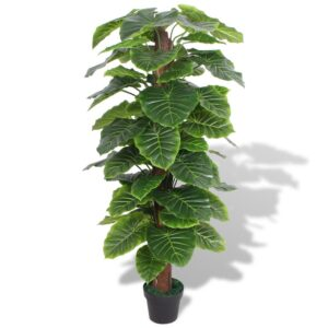 Planta taro artificial com vaso 145 cm verde - PORTES GRÁTIS