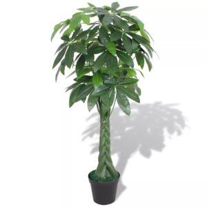 Planta árvore da sorte artificial com vaso 145 cm verde - PORTES GRÁTIS