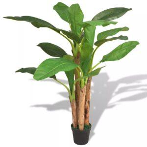 Planta bananeira artificial com vaso 175 cm verde - PORTES GRÁTIS