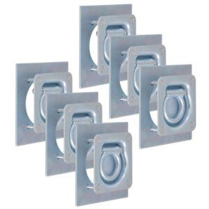 Anéis de fixação para atrelados 6 pcs aço galvanizado 2000 kg - PORTES GRÁTIS