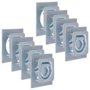 Anéis de fixação para atrelados 8 pcs aço galvanizado 2000 kg - PORTES GRÁTIS