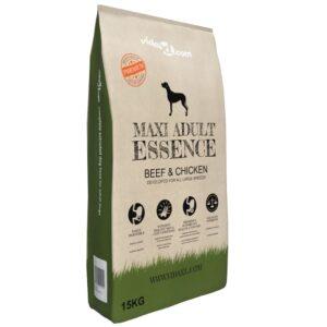Ração premium para cães Maxi Adult Essence Beef & Chicken 15 kg - PORTES GRÁTIS