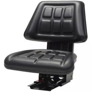 Assento de trator com suspensão preto - PORTES GRÁTIS