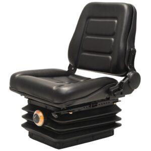 Assento trator/empilhadeira c/ suspensão e encosto ajust. preto - PORTES GRÁTIS