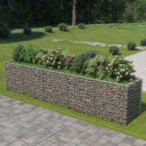 Gabião para plantas em aço galvanizado 450x90x100 cm - PORTES GRÁTIS