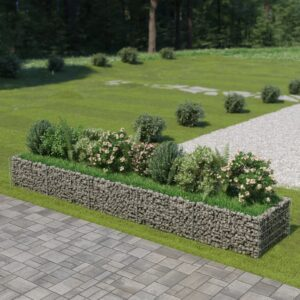 Gabião para plantas em aço galvanizado 450x90x50 cm - PORTES GRÁTIS