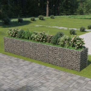 Gabião para plantas em aço galvanizado 540x90x100 cm - PORTES GRÁTIS
