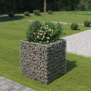 Gabião para plantas em aço galvanizado 90x90x100 cm - PORTES GRÁTIS