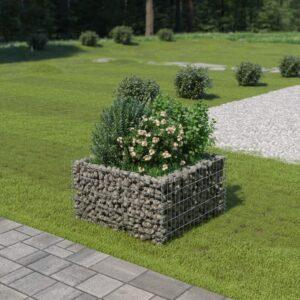 Gabião para plantas em aço galvanizado 90x90x50 cm - PORTES GRÁTIS