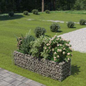 Gabião para plantas em aço galvanizado 180x50x50 cm - PORTES GRÁTIS