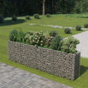 Gabião para plantas em aço galvanizado 360x50x100 cm - PORTES GRÁTIS
