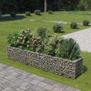 Gabião para plantas em aço galvanizado 270x50x50 cm - PORTES GRÁTIS