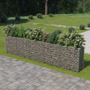 Gabião para plantas em aço galvanizado 450x50x100 cm - PORTES GRÁTIS