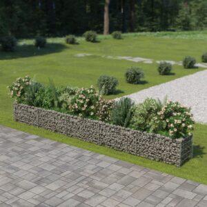 Gabião para plantas em aço galvanizado 450x50x50 cm - PORTES GRÁTIS