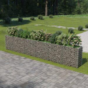 Gabião para plantas em aço galvanizado 540x50x100 cm - PORTES GRÁTIS