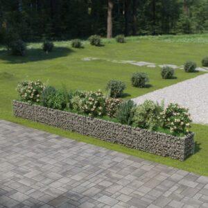 Gabião para plantas em aço galvanizado 540x50x50 cm - PORTES GRÁTIS