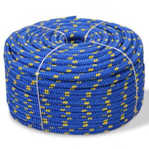 Corda náutica em polipropileno 16 mm 50 m azul - PORTES GRÁTIS