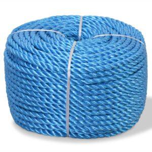 Corda torcida em polipropileno 14 mm 250 m azul - PORTES GRÁTIS