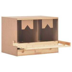 Ninho p/ galinhas 2 compartimentos 63x40x45 cm pinho maciço - PORTES GRÁTIS