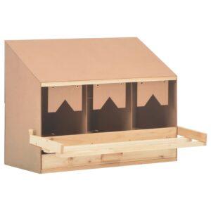 Ninho p/ galinhas 3 compartimentos 72x33x54 cm pinho maciço - PORTES GRÁTIS