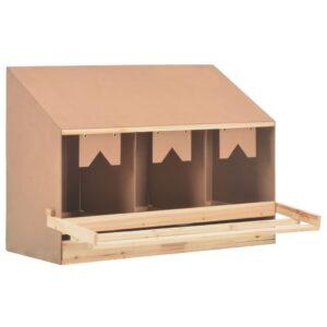 Ninho p/ galinhas 3 compartimentos 93x40x65 cm pinho maciço - PORTES GRÁTIS