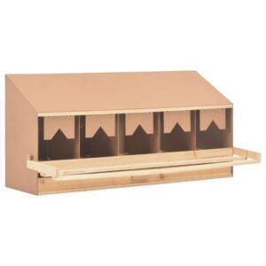 Ninho p/ galinhas 5 compartimentos 117x33x54 cm pinho maciço - PORTES GRÁTIS