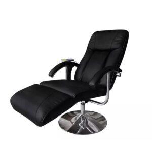 Cadeira de massagens couro artificial preto - PORTES GRÁTIS