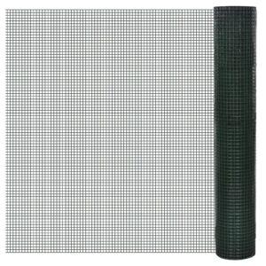 Cerca arame galinheiro 10x1 m aço c/ revestimento PVC verde - PORTES GRÁTIS