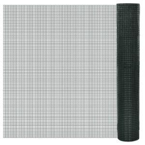 Cerca arame galinheiro 25x1 m aço c/ revestimento PVC verde - PORTES GRÁTIS