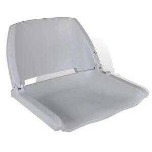 Assento do barco dobrável sem almofada, cinzento 41 x 51 x 48 cm - PORTES GRÁTIS