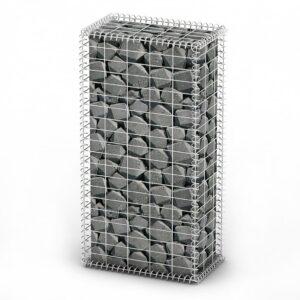 Cesto gabião arame galvanizado 100 x 50 x 30 cm  - PORTES GRÁTIS
