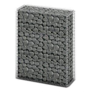 Cesto gabião arame galvanizado 100 x 80 x 30 cm    - PORTES GRÁTIS