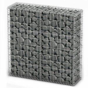 Cesto gabião arame galvanizado 100 x 100 x 30 cm  - PORTES GRÁTIS