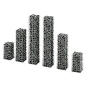 Conjunto de gabiões 6 pcs arame galvanizado  - PORTES GRÁTIS