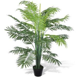 Palmeira Fénix Artificial, com Vaso, 130 cm - PORTES GRÁTIS