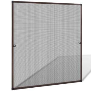 Rede anti-insetos para janelas 120 x 140 cm, castanho - PORTES GRÁTIS