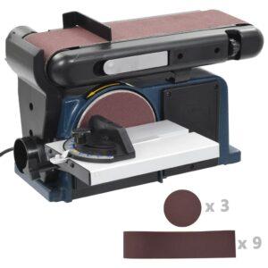 Lixadeira elétrica de disco e cinto 370 W 150 mm - PORTES GRÁTIS