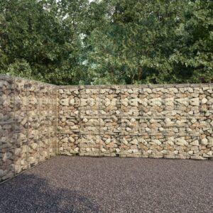Muro gabião com tampas aço galvanizado 900x50x200 cm - PORTES GRÁTIS