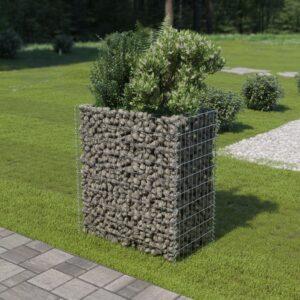 Gabião para plantas em aço galvanizado 90x50x100 cm - PORTES GRÁTIS