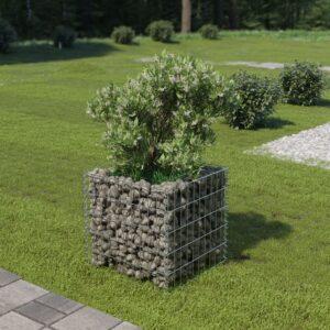 Gabião para plantas em aço galvanizado 50x50x50 cm - PORTES GRÁTIS