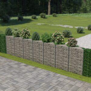 Muro gabião em aço galvanizado 450x30x100 cm - PORTES GRÁTIS