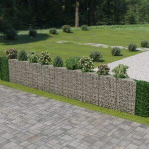Muro gabião em aço galvanizado 630x30x100 cm - PORTES GRÁTIS