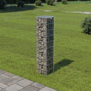 Muro gabião com tampas aço galvanizado 20x20x100 cm - PORTES GRÁTIS