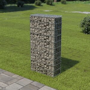 Muro gabião com tampas aço galvanizado 50x20x100 cm - PORTES GRÁTIS