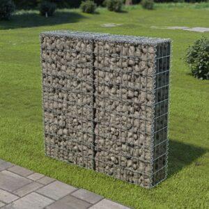 Muro gabião com tampas aço galvanizado 100x20x100 cm - PORTES GRÁTIS