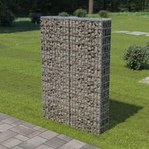 Muro gabião com tampas aço galvanizado 100x20x150 cm - PORTES GRÁTIS