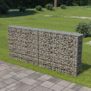 Muro gabião com tampas aço galvanizado 200x20x85 cm - PORTES GRÁTIS