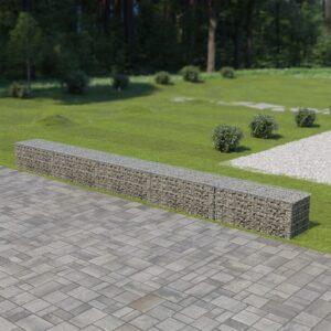 Muro gabião com tampas aço galvanizado 600x50x50 cm - PORTES GRÁTIS
