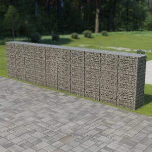 Muro gabião com tampas aço galvanizado 600x50x150 cm - PORTES GRÁTIS