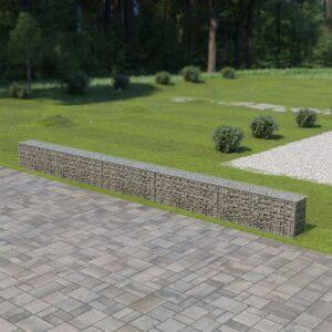 Muro gabião com tampas aço galvanizado 600x30x50 cm - PORTES GRÁTIS